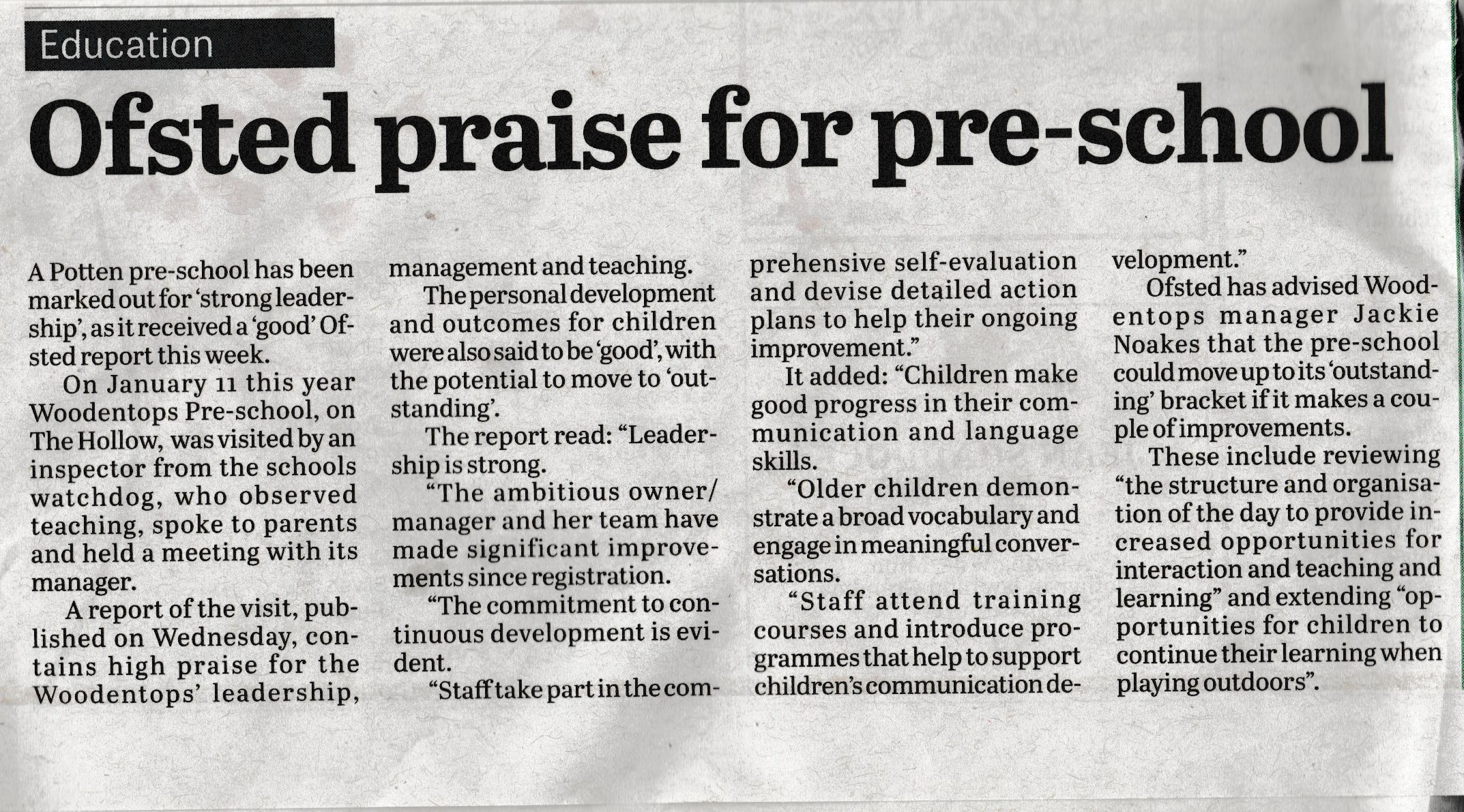 Biggleswade report of Ofsted 001